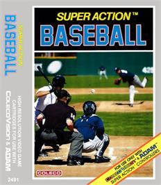 Box cover for Super Action Baseball on the Coleco Vision.