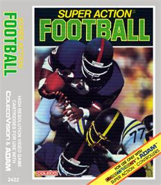 Box cover for Super Action Football on the Coleco Vision.