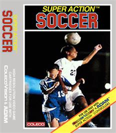 Box cover for Super Action Soccer on the Coleco Vision.