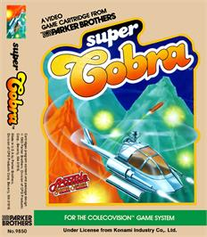Box cover for Super Cobra on the Coleco Vision.