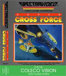 Box cover for Super Cross Force on the Coleco Vision.