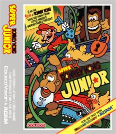 Box cover for Super DK! Junior on the Coleco Vision.