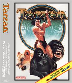 Box cover for Tarzan: From Out Of The Jungle... on the Coleco Vision.