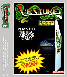 Box cover for Venture on the Coleco Vision.