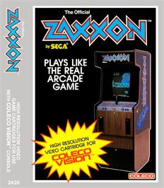 Box cover for Zaxxon on the Coleco Vision.