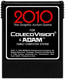 Cartridge artwork for 2010: The Graphic Action Game on the Coleco Vision.