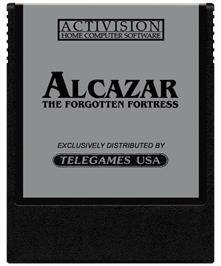 Cartridge artwork for Alcazar: The Forgotten Fortress on the Coleco Vision.