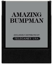 Cartridge artwork for Amazing Bumpman on the Coleco Vision.