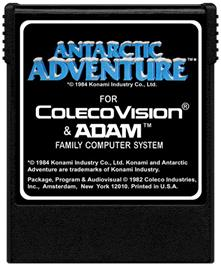 Cartridge artwork for Antarctic Adventure on the Coleco Vision.