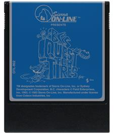 Cartridge artwork for BC's Quest for Tires on the Coleco Vision.