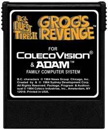 Cartridge artwork for BC's Quest for Tires 2: Grog's Revenge on the Coleco Vision.