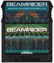 Cartridge artwork for Beamrider on the Coleco Vision.