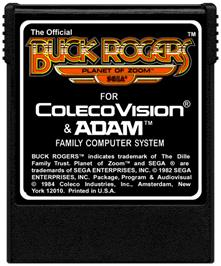 Cartridge artwork for Buck Rogers: Planet of Zoom on the Coleco Vision.