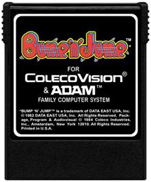 Cartridge artwork for Bump 'n' Jump on the Coleco Vision.