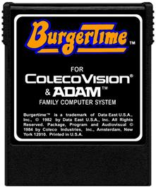 Cartridge artwork for Burger Time on the Coleco Vision.
