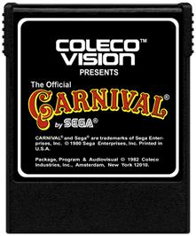 Cartridge artwork for Carnival on the Coleco Vision.