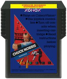 Cartridge artwork for Chuck Norris Superkicks on the Coleco Vision.
