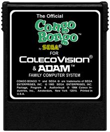 Cartridge artwork for Congo Bongo on the Coleco Vision.