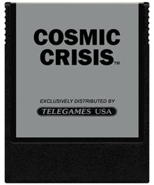 Cartridge artwork for Cosmic Crisis on the Coleco Vision.