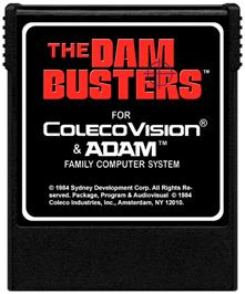Cartridge artwork for Dambusters on the Coleco Vision.