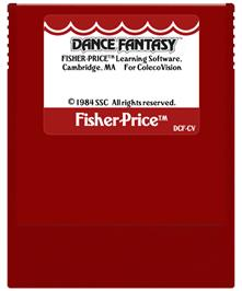 Cartridge artwork for Dance Fantasy on the Coleco Vision.