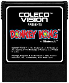 Cartridge artwork for Donkey Kong on the Coleco Vision.