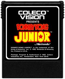 Cartridge artwork for Donkey Kong Junior on the Coleco Vision.