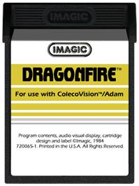 Cartridge artwork for Dragon Fire on the Coleco Vision.