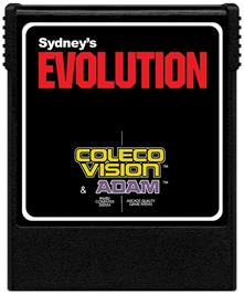 Cartridge artwork for Evolution on the Coleco Vision.
