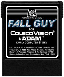 Cartridge artwork for Fall Guy on the Coleco Vision.