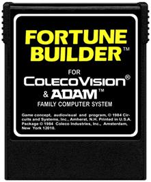Cartridge artwork for Fortune Builder on the Coleco Vision.