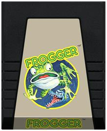 Cartridge artwork for Frogger on the Coleco Vision.