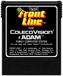 Cartridge artwork for Front Line on the Coleco Vision.