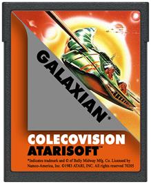 Cartridge artwork for Galaxian on the Coleco Vision.