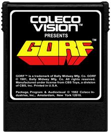 Cartridge artwork for Gorf on the Coleco Vision.