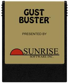 Cartridge artwork for Gust Buster on the Coleco Vision.