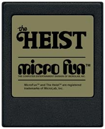 Cartridge artwork for Heist on the Coleco Vision.