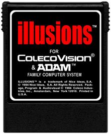 Cartridge artwork for Illusions on the Coleco Vision.