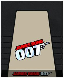 Cartridge artwork for James Bond 007 on the Coleco Vision.
