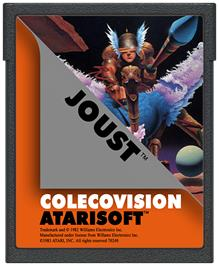 Cartridge artwork for Joust on the Coleco Vision.