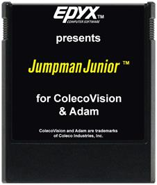 Cartridge artwork for Jumpman Junior on the Coleco Vision.