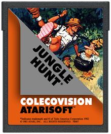 Cartridge artwork for Jungle Hunt on the Coleco Vision.