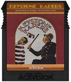 Cartridge artwork for Keystone Kapers on the Coleco Vision.