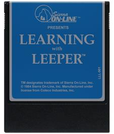 Cartridge artwork for Learning with Leeper on the Coleco Vision.
