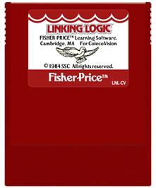 Cartridge artwork for Linking Logic on the Coleco Vision.