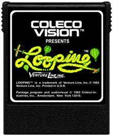 Cartridge artwork for Looping on the Coleco Vision.