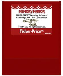 Cartridge artwork for Memory Manor on the Coleco Vision.
