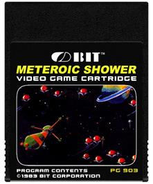Cartridge artwork for Meteoric Shower on the Coleco Vision.