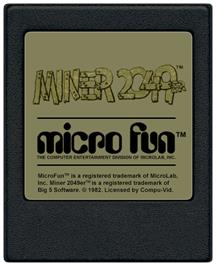 Cartridge artwork for Miner 2049er on the Coleco Vision.