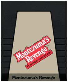 Cartridge artwork for Montezuma's Revenge on the Coleco Vision.